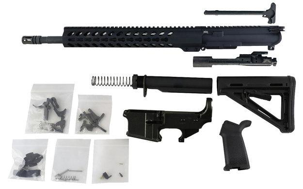 "AR-15 Build Kit - 300 Blackout (Keymod Handguard & 16"" Barrel) with Fire/Safe Engraved  80% Lower Receiver"