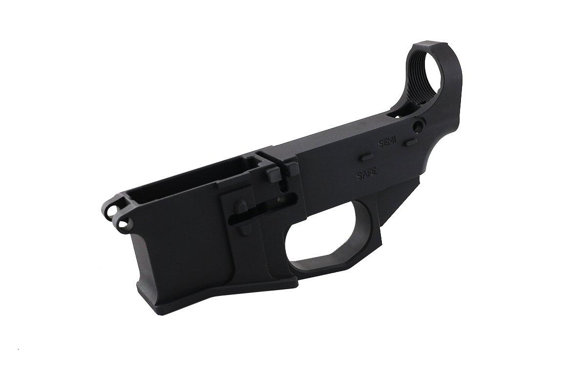 Premium Black Billet 80% Lower with Fire/Safe Engraving (1-Pack)