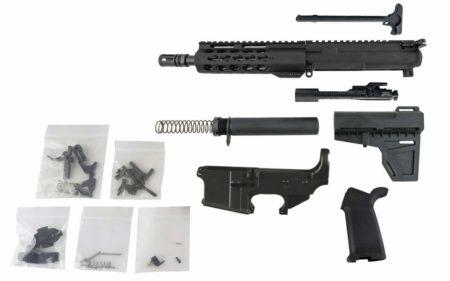 "AR-15 Pistol Kit (300 Blackout, 8.5"" Barrel & 7"" Keymod Hand Guard) w/ 80% Lower Receiver"