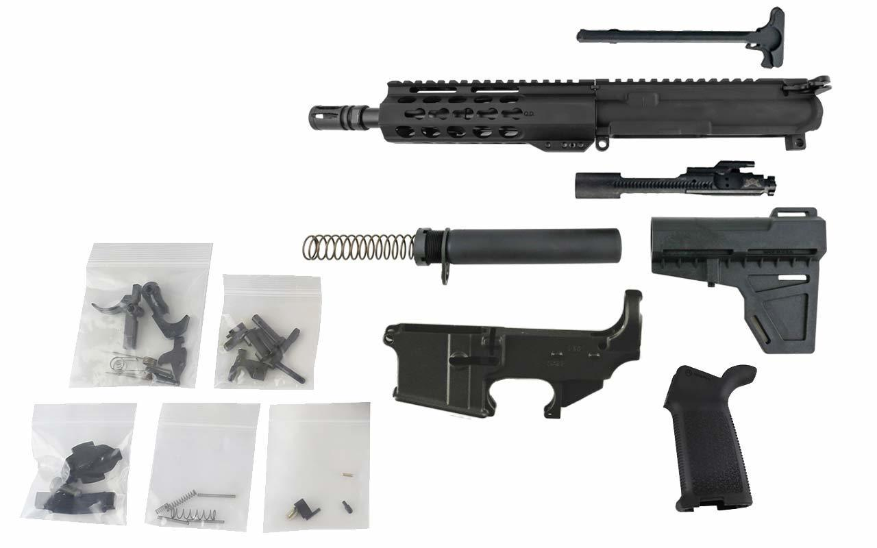 "AR-15 Pistol Kit (300 Blackout, 8.5"" Barrel & 7"" Keymod Hand Guard) w/ 80% Lower Receiver"