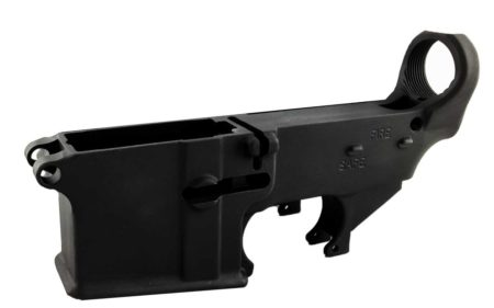 Black Enhanced 80% Lower with Fire/Safe Engraving (1-Pack)