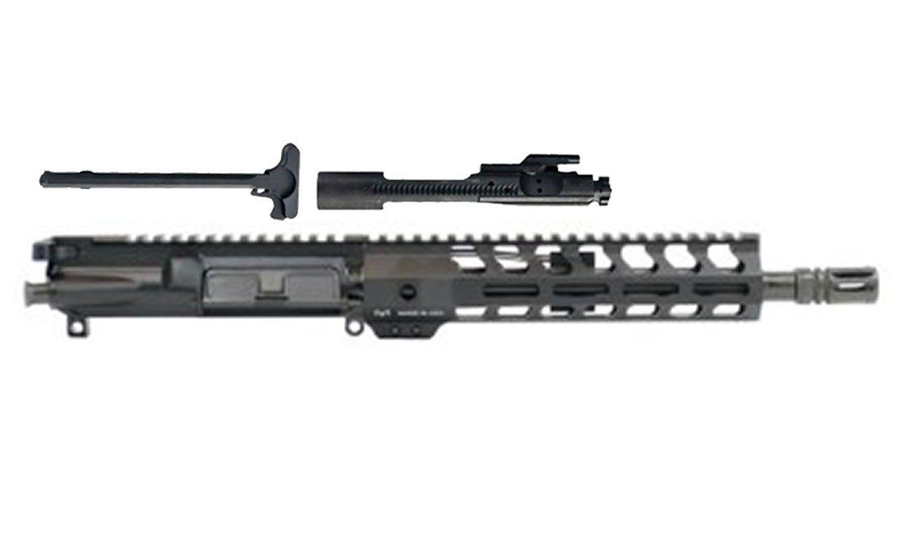 "10.5"" PISTOL LENGTH 300AAC BLACKOUT 1:8 NITRIDE 9"" LIGHTWEIGHT M-LOK FREEDOM UPPER ASSEMBLY"