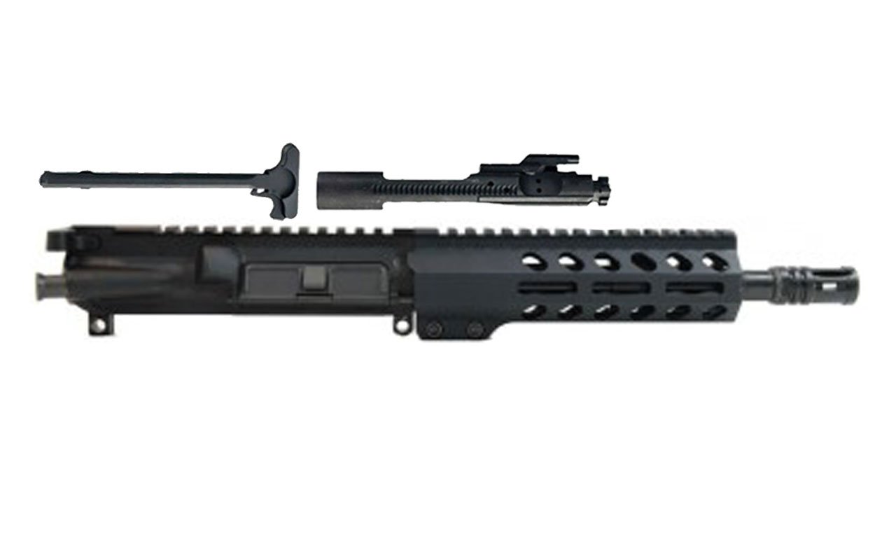 "300AAC Blackout 8.5"" Chrome-Moly Nitride Barrel 7"" M-Lok Handrail Complete Upper Assembly"