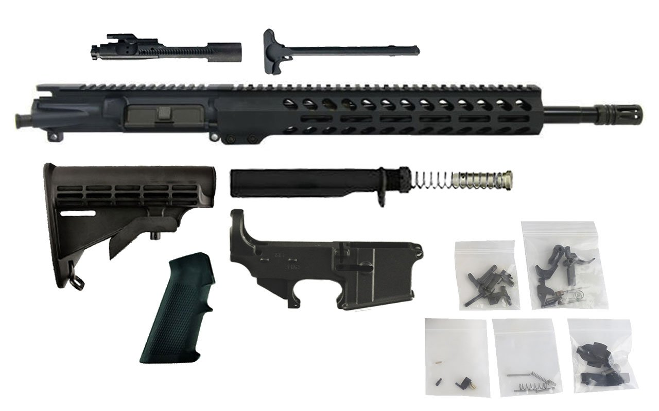 "300 BLACKOUT ( 16"" Chrome Moly w/ 13.5"" Lightweight M-LOK) Complete Rifle Build Kit #12"