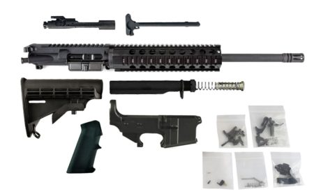"300 Blackout (16"" Barrel, Free Float Quad Rail) AR15 Complete Rifle Build Kit #3"