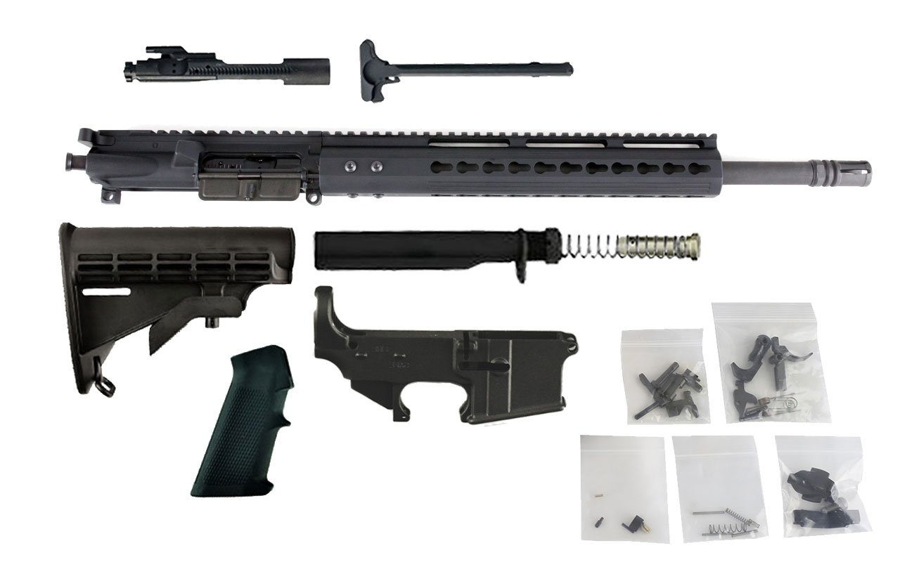 "300 Blackout (16"" Barrel & 12"" Lightweight Keymod Handguard) AR 15 - Complete Rifle Build Kit #6"