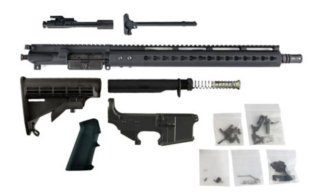"300 Blackout (16"" Barrel & 15"" Lightweight Keymod Handguard) AR 15 Complete Rifle Build Kit #5"