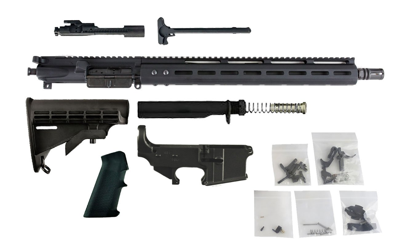 "300 Blackout (16"" Barrel & 15"" M-Lok Handguard) AR15 Complete Rifle Build Kit #1"