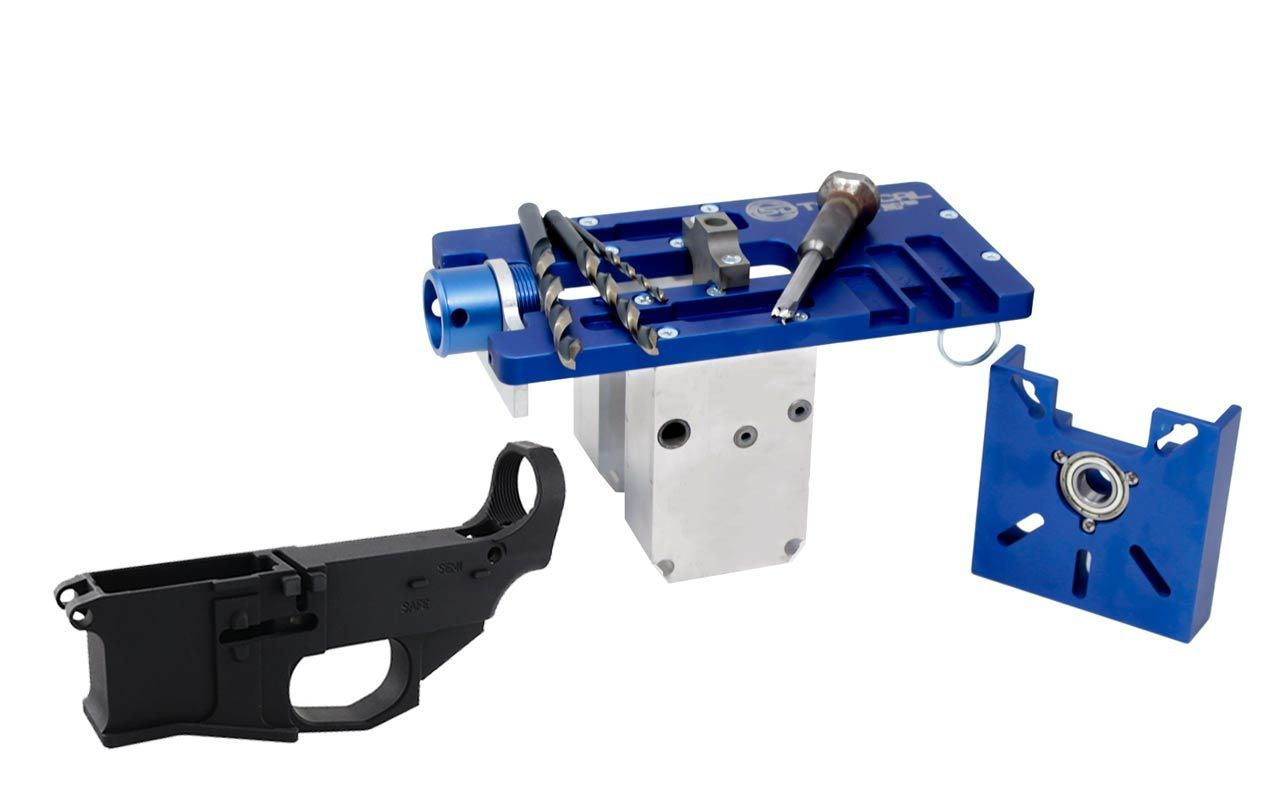 5D Tactical Router Jig PRO Multi Platform & Premium Black 80% Lower Billet FireSafe Engraved (1-Count)