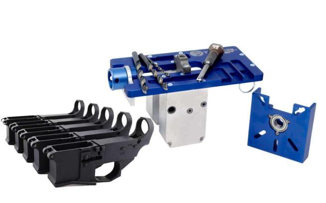 5D Tactical Router Jig PRO Multi Platform & Premium Black 80% Lower Billet FireSafe Engraved (5-Count)