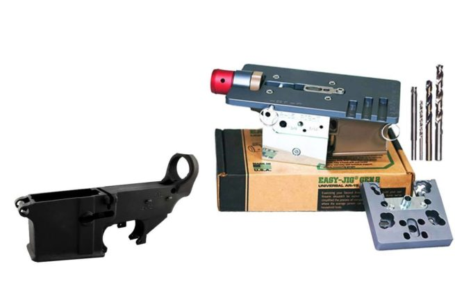 Black 80% Lower FireSafe Engraved (1-Count) and Easy Jig Gen 2 with Tooling (AR15 AR9)