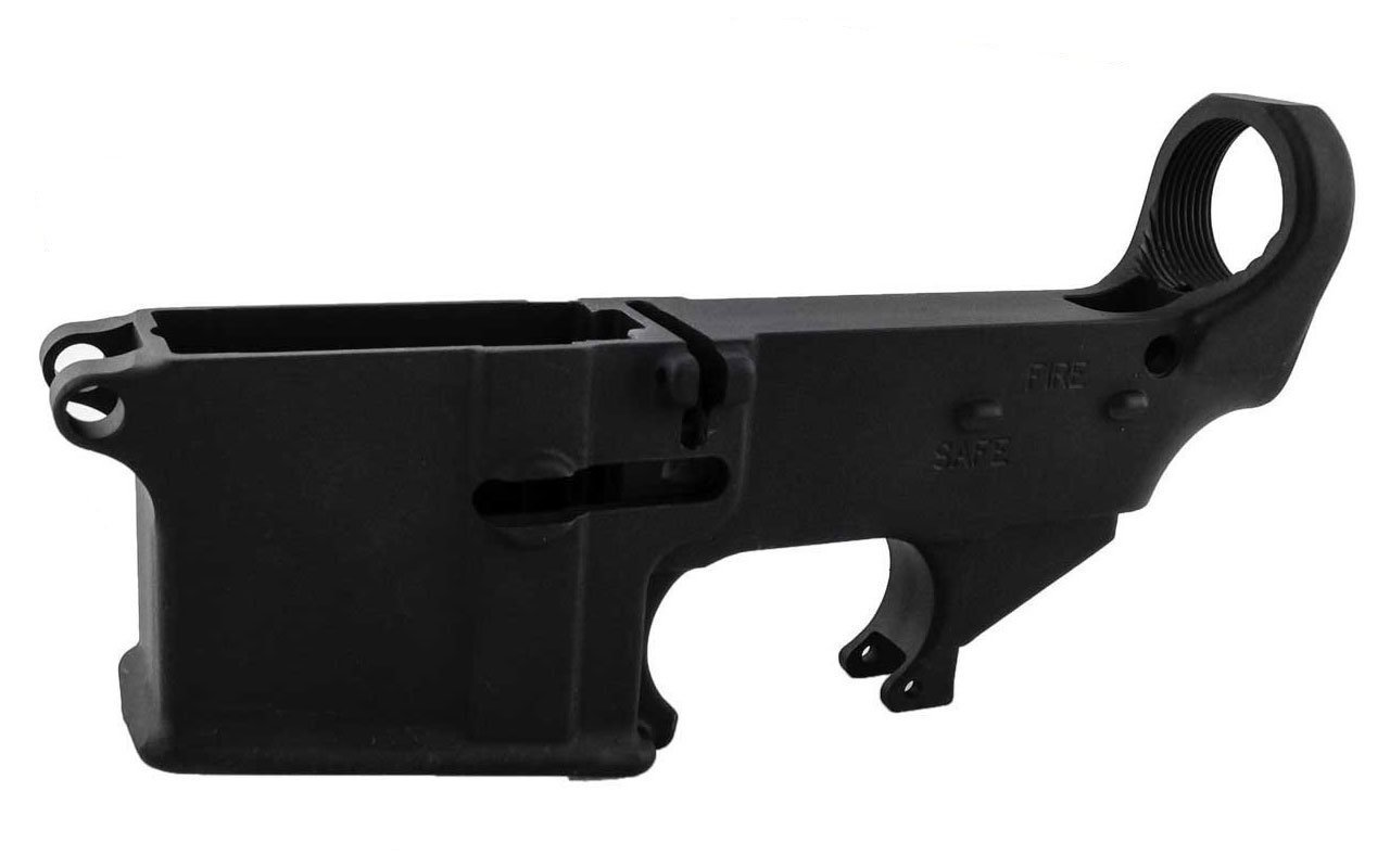 Black 80% Lower with Fire/Safe Engraving (5-Pack) and EASY JIG GEN 2 WITH  TOOLING - AR-15 / AR-9