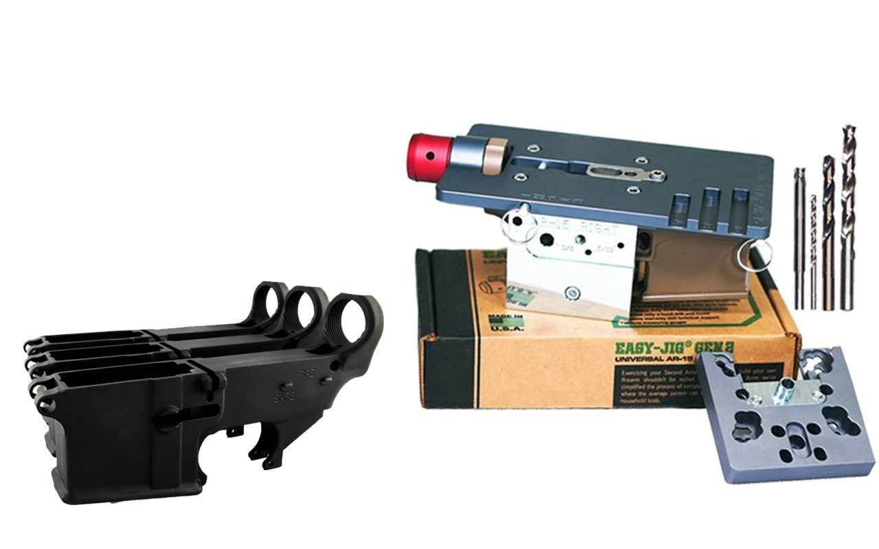 Black 80% Lower FireSafe Engraved (3-Count) and Easy Jig Gen 2 with Tooling (AR15 AR9)
