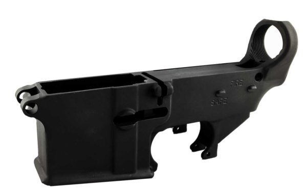Black Enhanced 80% Lower with Fire/Safe Engraving (5-Pack)