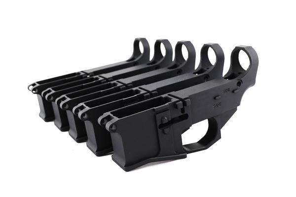 Premium Black Billet 80% Lower with Fire/Safe Engraving (5-Pack)