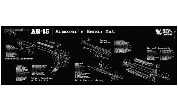 Builder's Mat for AR-15