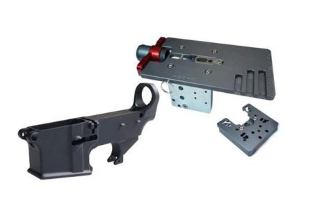 Enhanced Black 80% Lower with Easy Jig GEN 2 with Tooling (for AR-15/LR-308/AR-9 Lowers)