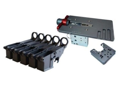 Enhanced Black 80% Lower (5 pack) with Easy Jig GEN 2 with Tooling (for AR-15/LR-308/AR-9 Lowers)