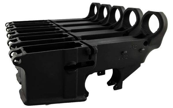 Black 80% Lower with Fire/Safe Engraving (5-Pack)