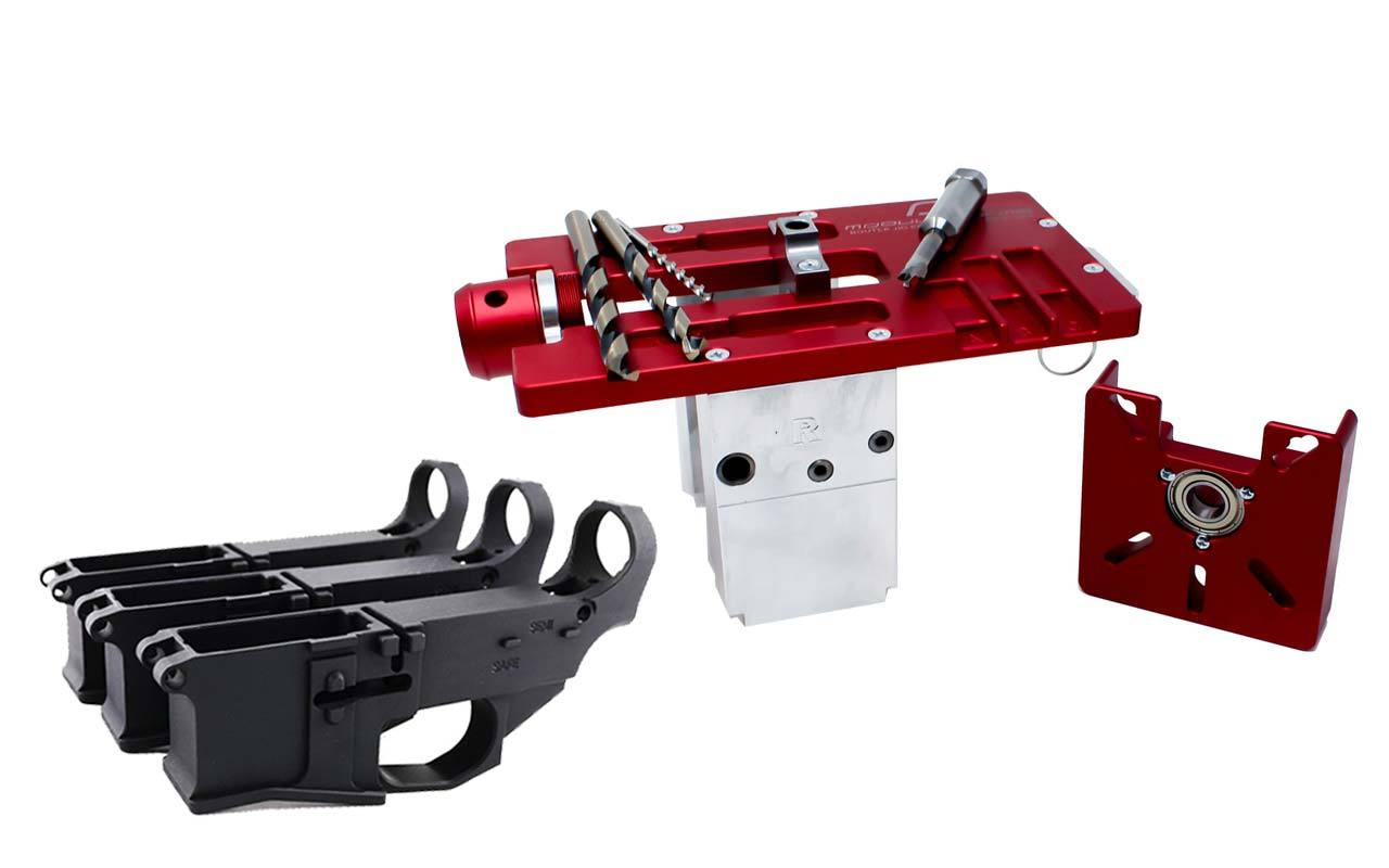 Modulus Arms AR-15 / AR-9 / LR-308 Router Jig Extreme & Premium Black Billet 80% Lower with Fire/Safe Engraving (3-Pack)