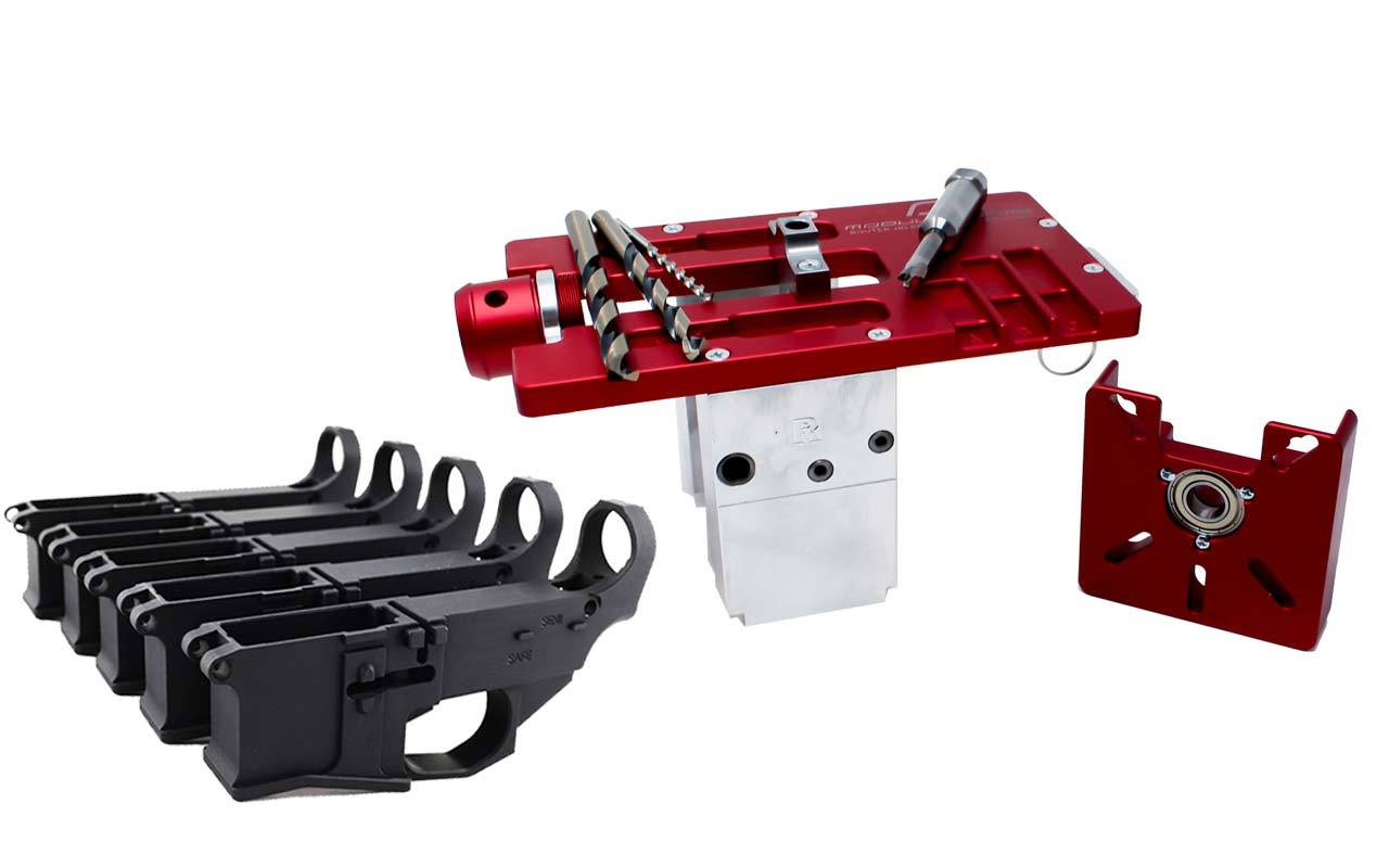 Modulus Arms AR-15 / AR-9 / LR-308 Router Jig Extreme & Premium Black Billet 80% Lower with Fire/Safe Engraving (5-Pack)