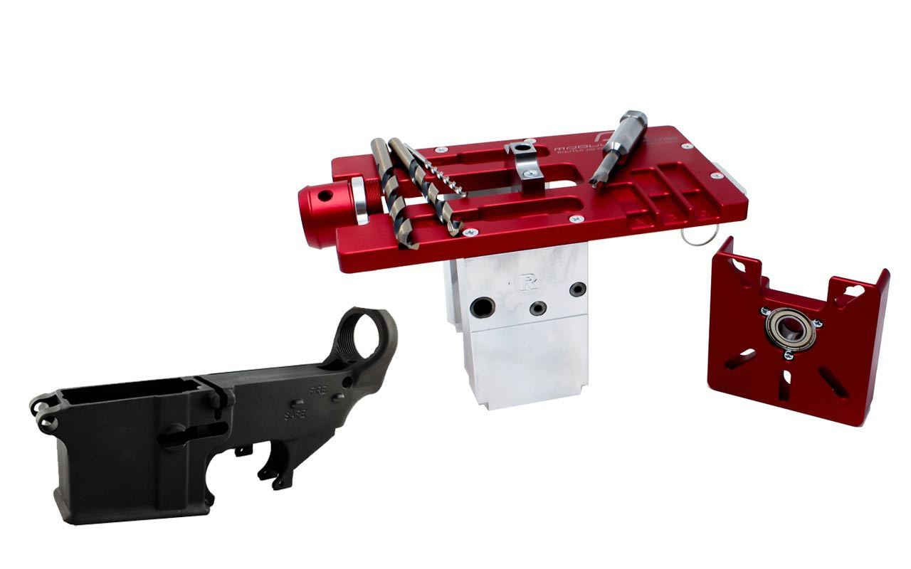 Modulus Arms AR-15 / AR-9 / LR-308 Router Jig Extreme & Black 80% Lower with Fire/Safe Engraving (1-Pack)