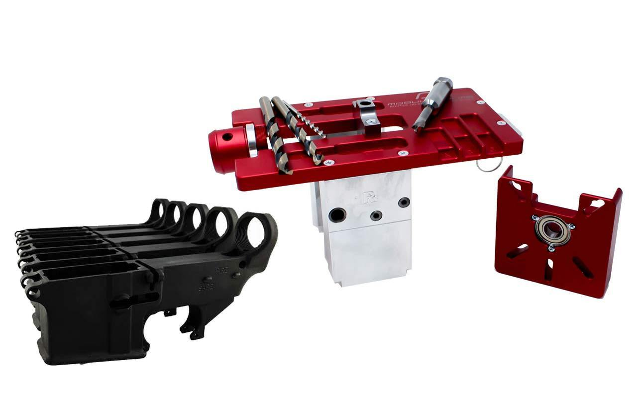 Modulus Arms AR-15 / AR-9 / LR-308 Router Jig Extreme & Black 80% Lower with Fire/Safe Engraving (5-Pack)
