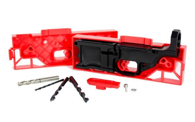 Frame and Jig Kit - LR-308, Black (Polymer80)